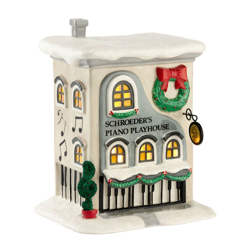 Department 56 Peanuts Village Schroeder's Piano Playhouse 4026954 Retired